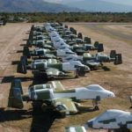 A-10 Thunderbolts zaparkowany w Davis-Monthan Air Force Base AMARG