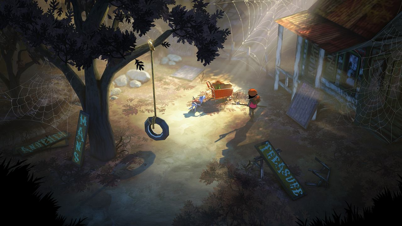 Huśtawka na oponie z gry The Flame in the Flood