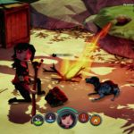 Ognisko Scout i Ezop przy posiłku z gry The Flame in the Flood